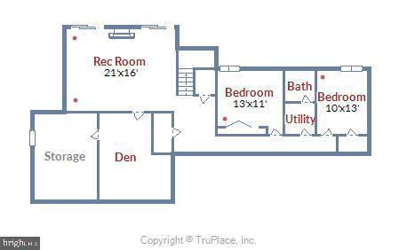 Lower Level Floor Plan - 15795 FAWN PL, DUMFRIES