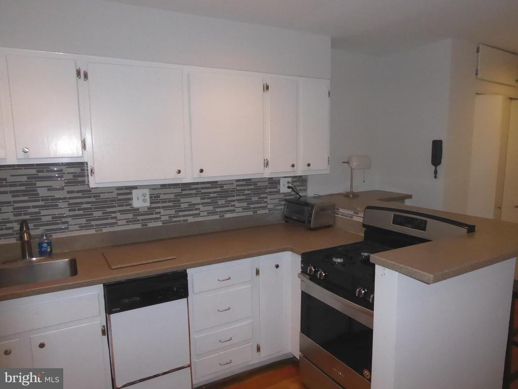 Kitchen- freshly painted cabinets - 1340 VERMONT AVE NW #6, WASHINGTON