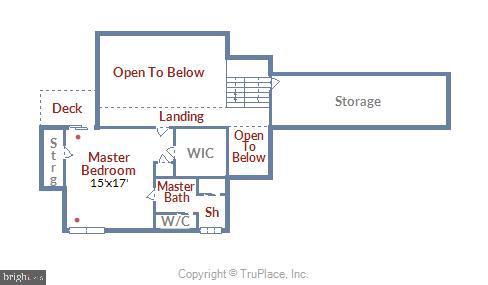 Upper Level Floor Plan - 15795 FAWN PL, DUMFRIES