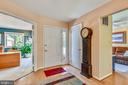 View of Entry from Living Room - 11627 CHAPEL CROSS WAY, RESTON
