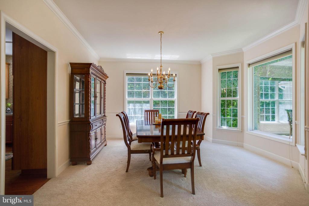 Formal Dining Room  to kitchen - 6711 HUNTERS RIDGE RD, MANASSAS