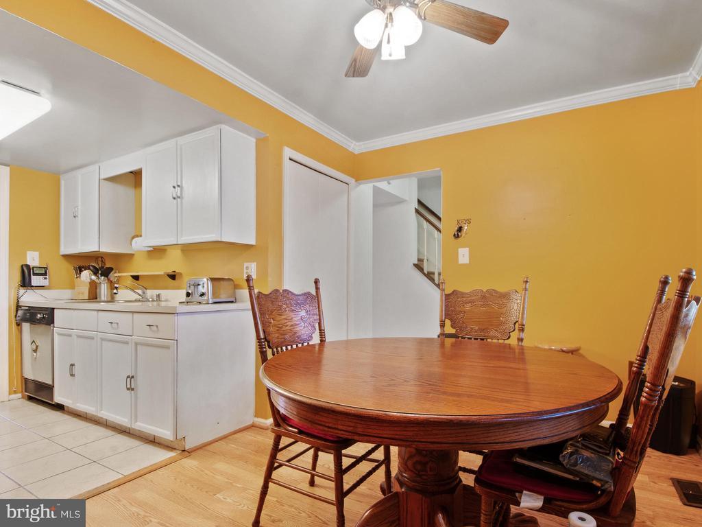 Dining Room toward Kitchen - 9168 KERSHAW CT, MANASSAS