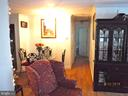 View from Living room past dining area towards BR - 7724 AMHERST DR, MANASSAS