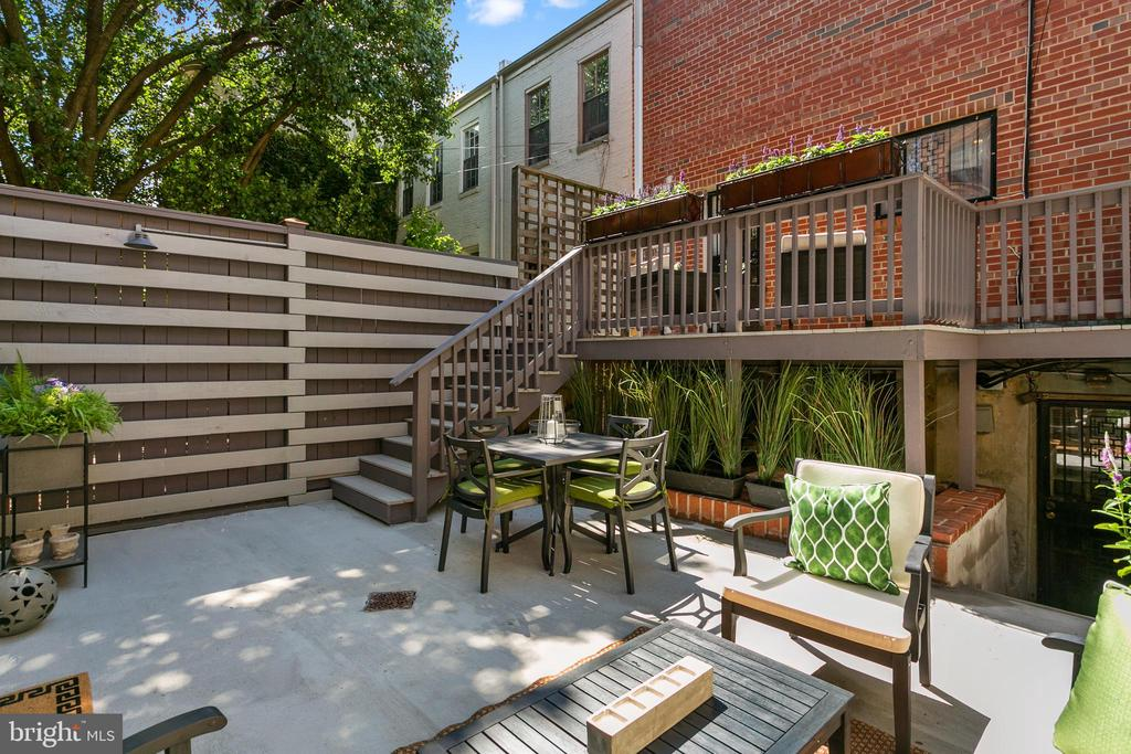 Rear Terrace - 1443 CORCORAN ST NW, WASHINGTON