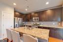 Kitchen with Chef's Island - 20685 ERSKINE TER, ASHBURN