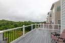 Deck with Views of Trees and Pond - 20685 ERSKINE TER, ASHBURN