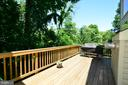 The deck is huge - 416 LAWFORD DR SW, LEESBURG