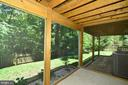 French doors open to  lower level screened porch - 416 LAWFORD DR SW, LEESBURG