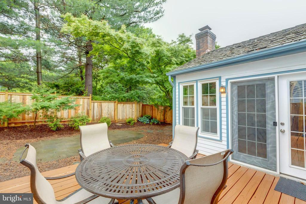 Deck and patio=AWESOME Outside Living Area - 11707 OLD BAYBERRY LN, RESTON