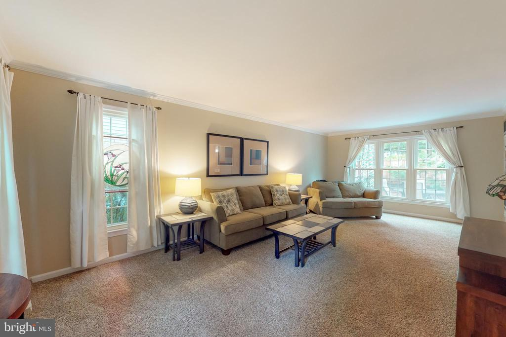Large living room goes from front to rear of home - 11707 OLD BAYBERRY LN, RESTON