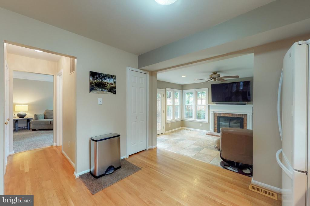 Open floor-plan in the