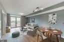 Virtual Staged Living Room - 11760 SUNRISE VALLEY DR #505, RESTON