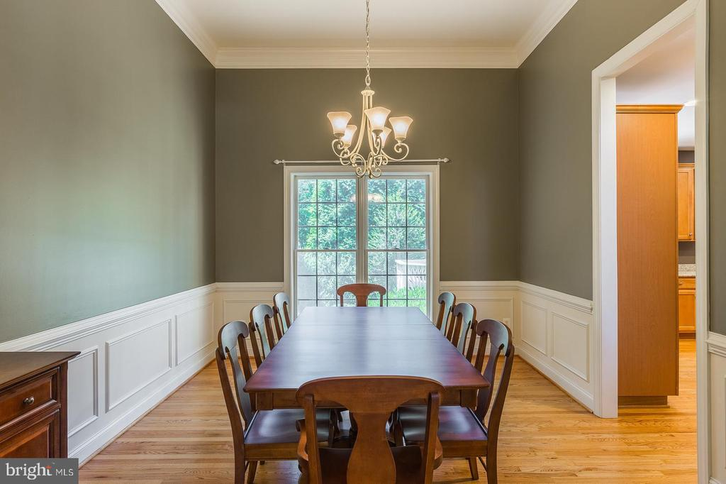 Formal Dining Room with Hardwood Flooring - 4524 MOSSER MILL CT, WOODBRIDGE