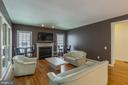 Mounted TV conveys in the Family Room - 4524 MOSSER MILL CT, WOODBRIDGE