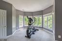 Large bumpout serves as a fitness area - 4524 MOSSER MILL CT, WOODBRIDGE