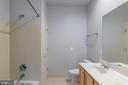 Tiled shower in Bathroom 3 - 4524 MOSSER MILL CT, WOODBRIDGE