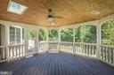 Ceiling Fan and Skylight accent the Screened Porch - 4524 MOSSER MILL CT, WOODBRIDGE