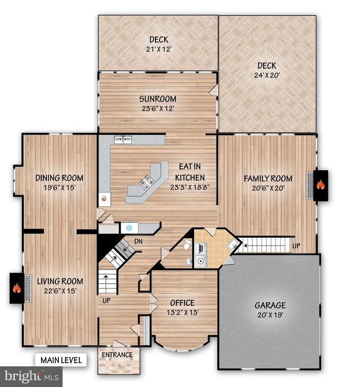 Main Level Floor Plan - 17504 CARLSON FARM CT, GERMANTOWN