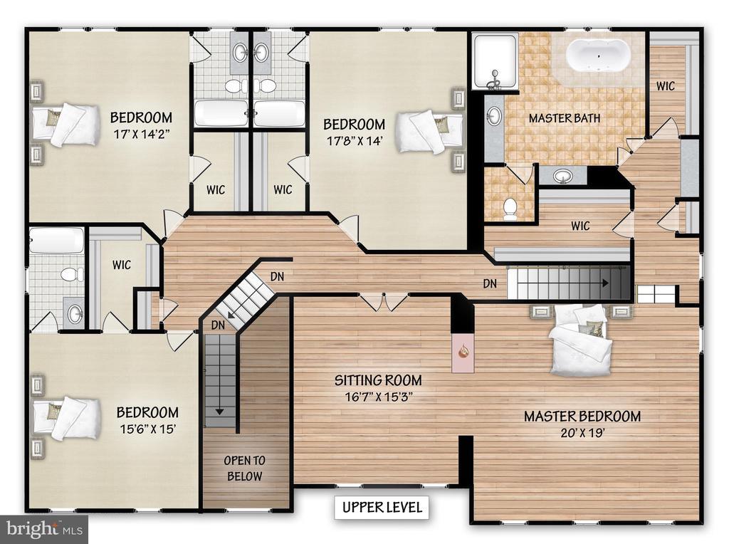 Upper Level Floor Plan - 17504 CARLSON FARM CT, GERMANTOWN