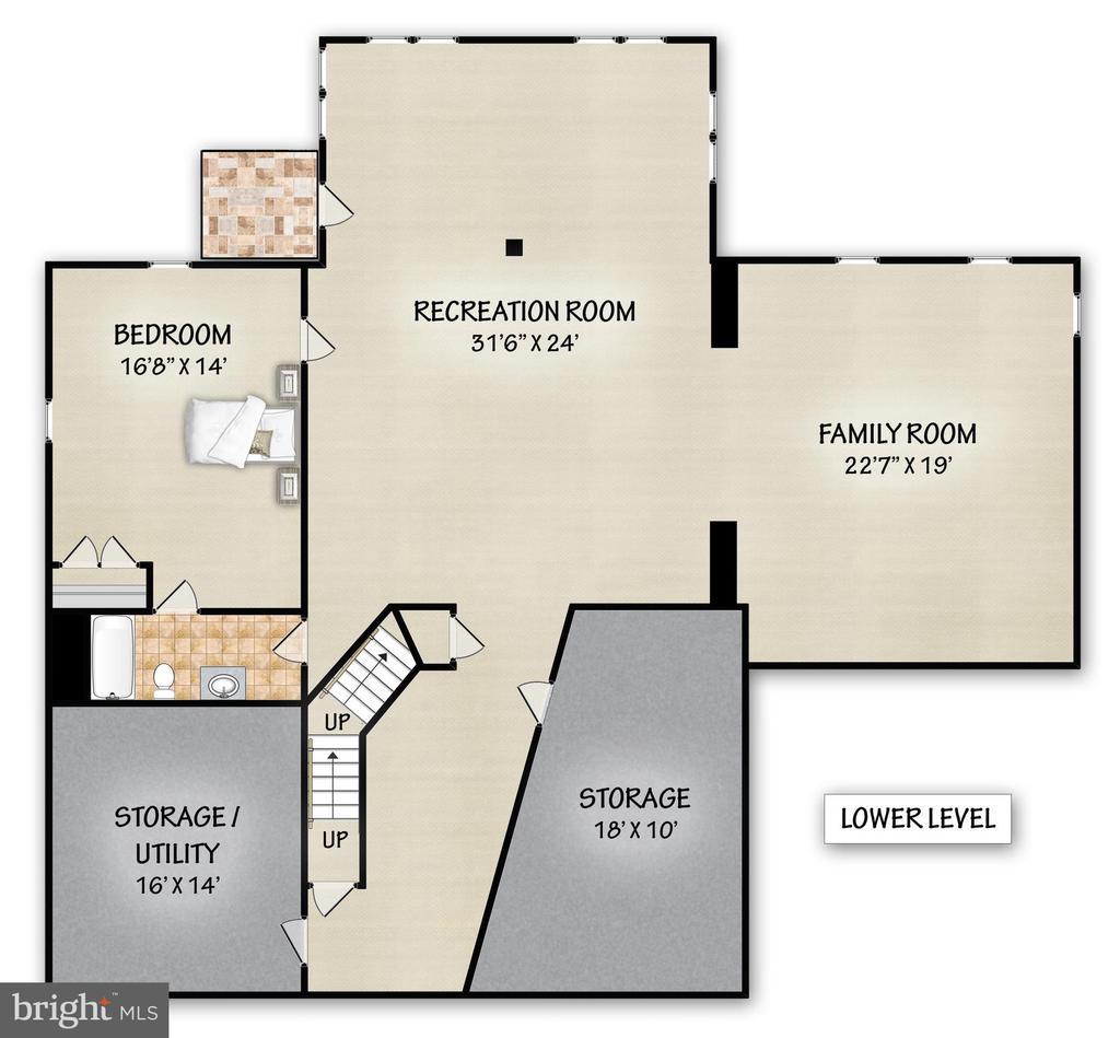 Lower Level Floor Plan - 17504 CARLSON FARM CT, GERMANTOWN