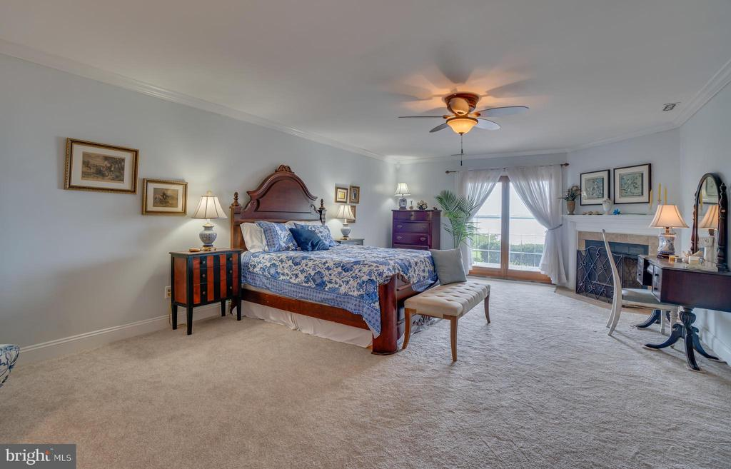 Master bedroom with waterviews and fireplace! - 134 WALLER POINT DR, STAFFORD