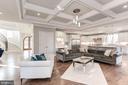 Coffered ceilings and custom trim work. - 2015 ARLINGTON RIDGE RD, ARLINGTON