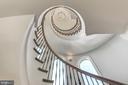 The home's grand staircase is an architectural gem - 2015 ARLINGTON RIDGE RD, ARLINGTON