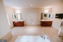 Separate vanities with space to add Pelaton - 4617 HOLIDAY LN, FAIRFAX