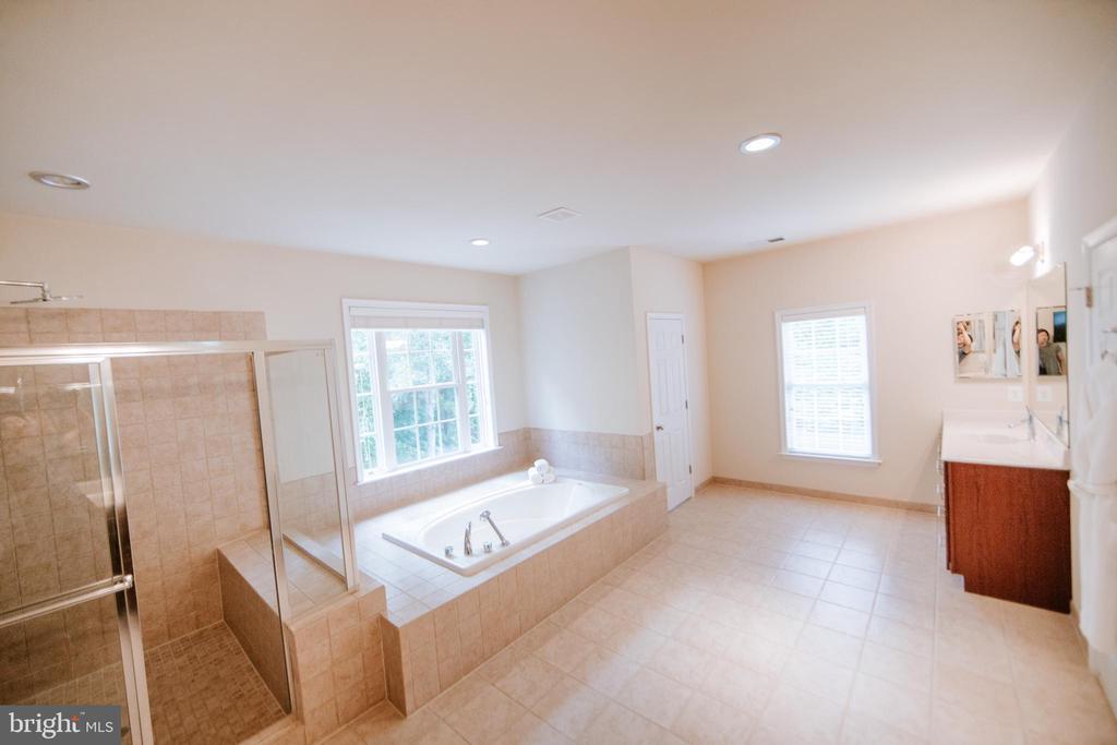Bright and spacious master bath - 4617 HOLIDAY LN, FAIRFAX