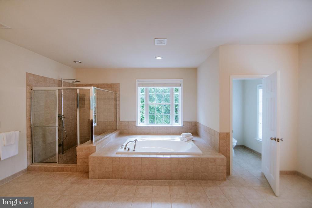 Master bath with separate bath and shower - 4617 HOLIDAY LN, FAIRFAX