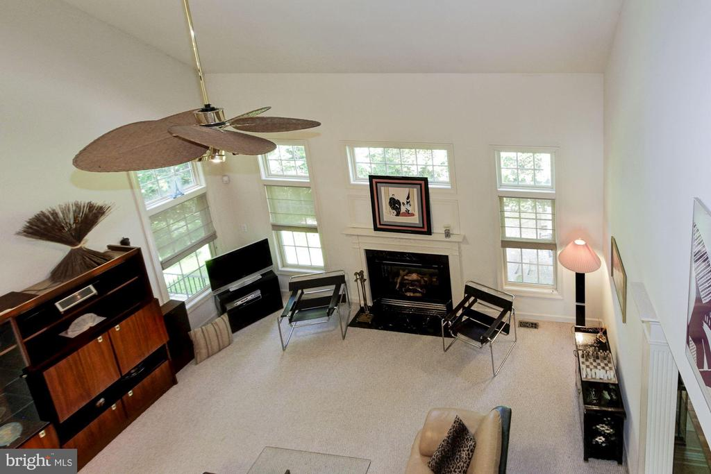 Family Room view from Catwalk - 1019 CURTIS PL, ROCKVILLE