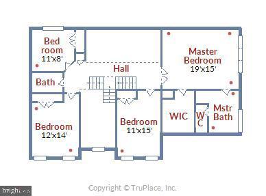 Upper Level Floor Plan - 1019 CURTIS PL, ROCKVILLE