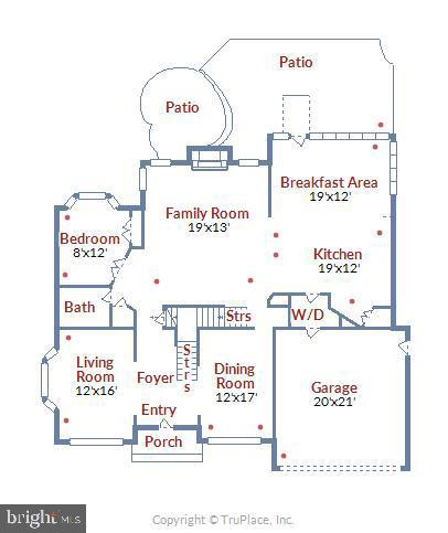 Main Level Floor Plan - 1019 CURTIS PL, ROCKVILLE