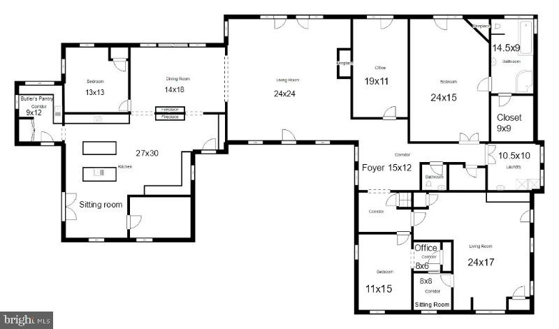 Main level floor plan! - 134 WALLER POINT DR, STAFFORD
