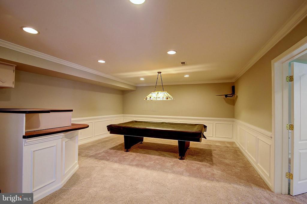 Game Room in Basement - 21368 STURMAN PL, BROADLANDS