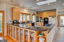 Open kitchen with a huge island - 20781 UNISON RD, ROUND HILL