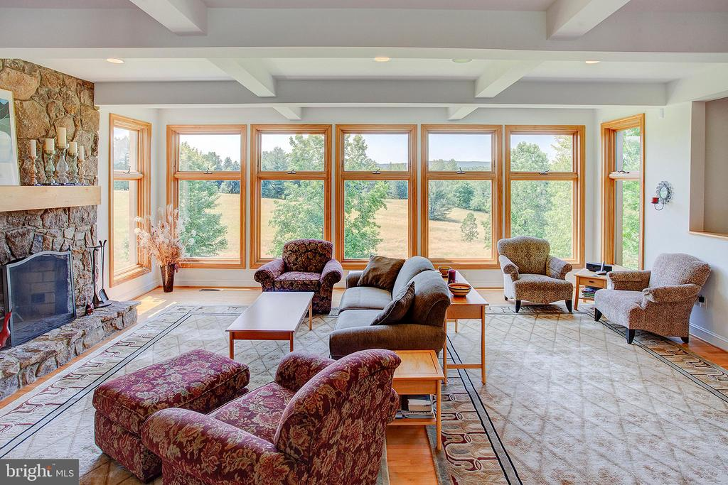 Incredible views from the family room - 20781 UNISON RD, ROUND HILL