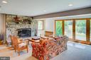 Lower level has stone fireplace - 20781 UNISON RD, ROUND HILL