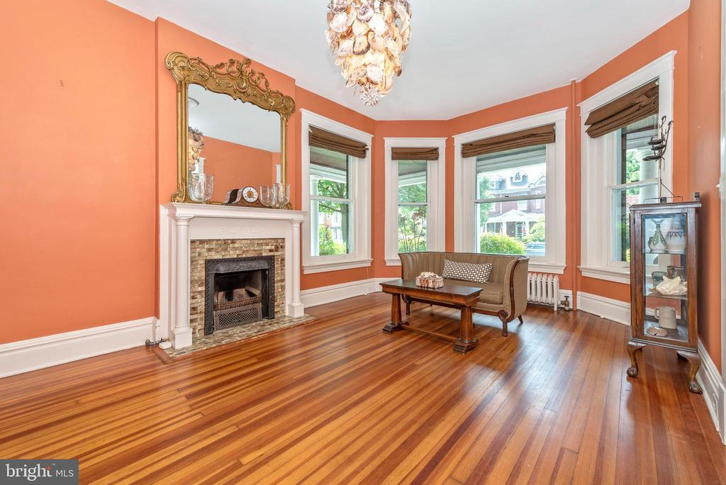 Spacious living room  with fireplace! - 203 ROCKWELL TER, FREDERICK
