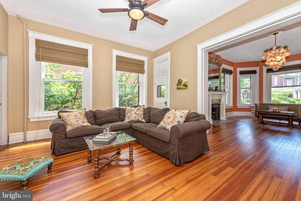 Family room adjoining living room and dining room - 203 ROCKWELL TER, FREDERICK