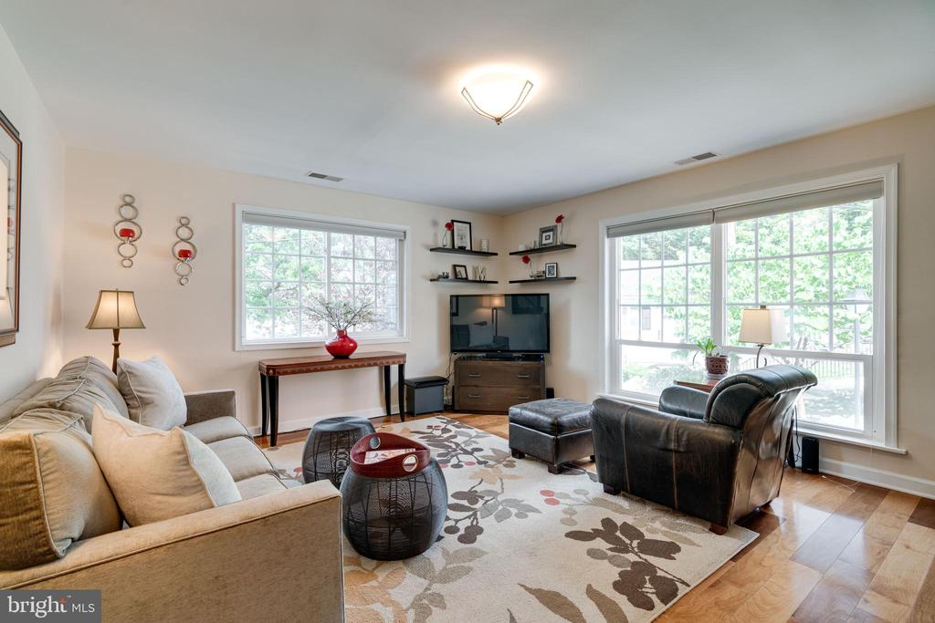 Spacious living room with lots of natural light - 1485 N VAN DORN ST #A, ALEXANDRIA