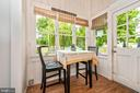 Sunny breakfast/sunroom off of the kitchen - 203 ROCKWELL TER, FREDERICK