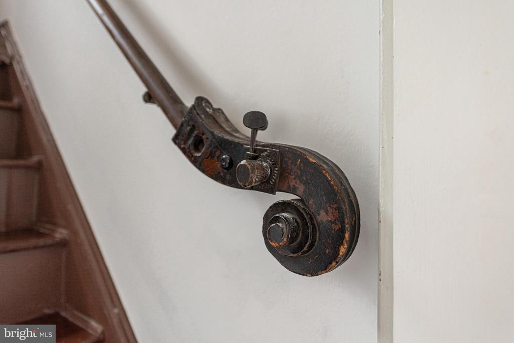 Back staircase from kitchen - a little detail! - 203 ROCKWELL TER, FREDERICK
