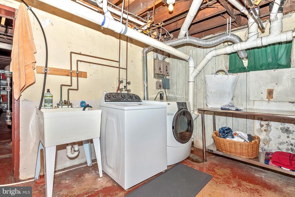 Lower level laundry area w/walk up to backyard - 203 ROCKWELL TER, FREDERICK