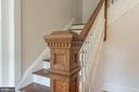 Staircase to 2nd level,  original newel post - 203 ROCKWELL TER, FREDERICK
