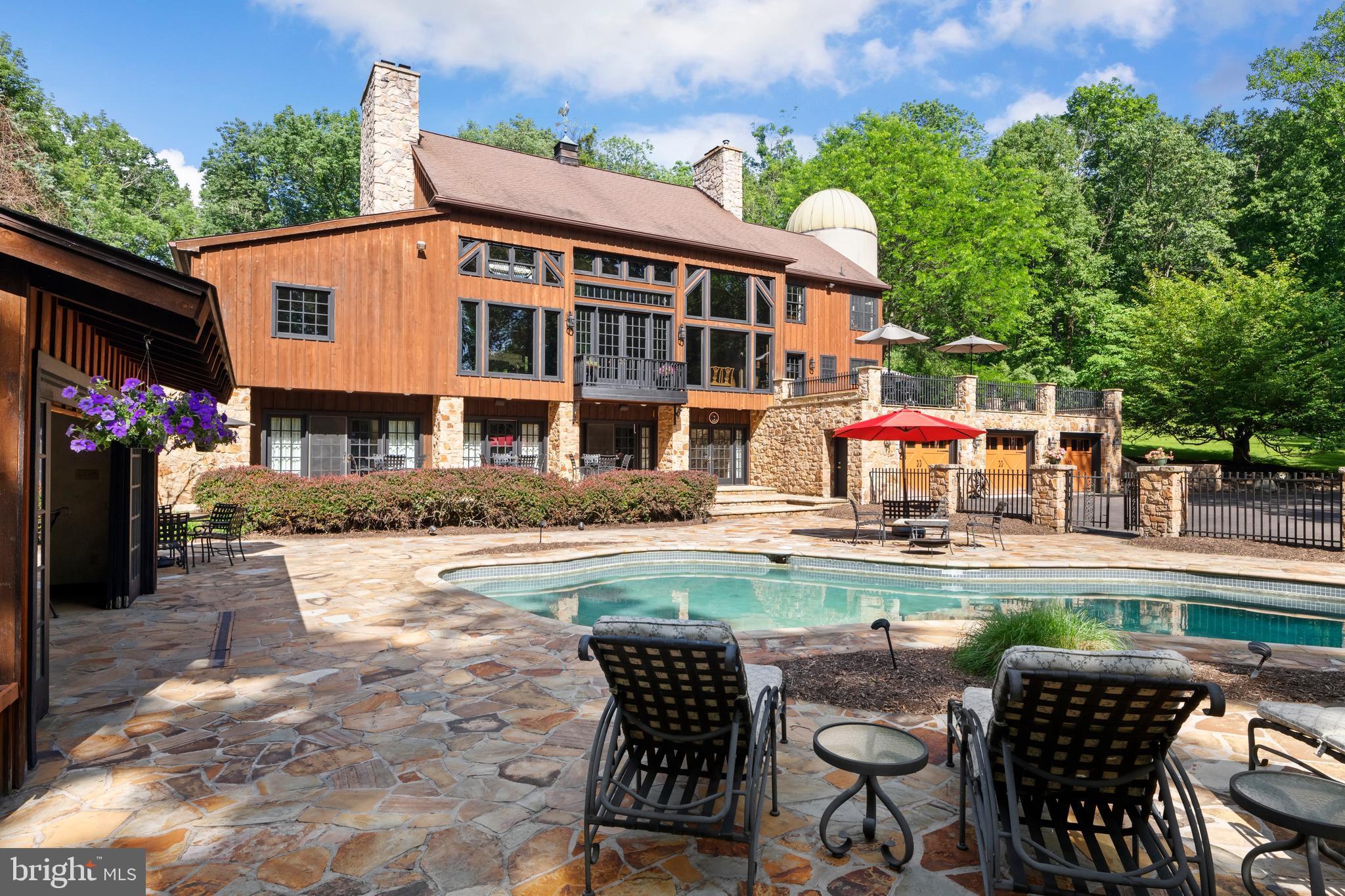 Exterior resort like pool area