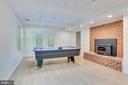 Lower level rec room w fireplace and wood stove - 16332 HAMPTON RD, HAMILTON
