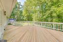 Deck off fam rm.  You can see the creek beyond - 16332 HAMPTON RD, HAMILTON