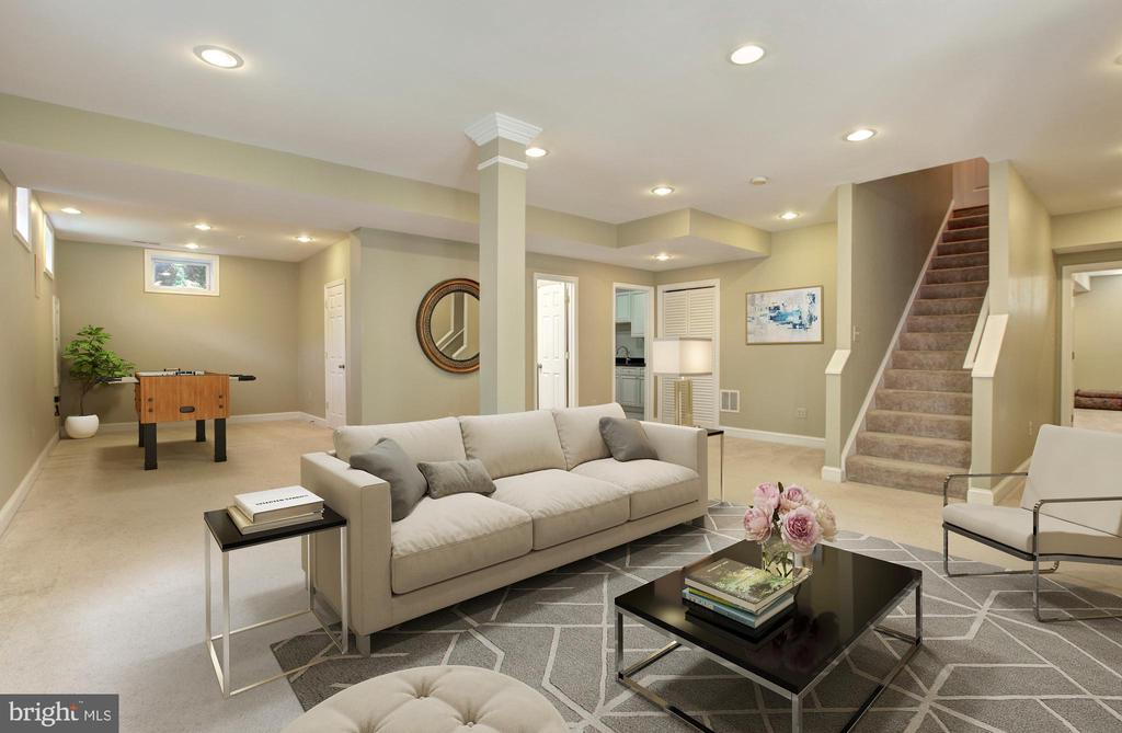 Finished Walk Out Lower Level - VIRTUALLY STAGED - 9891 CHAPEL BRIDGE ESTATES DR, FAIRFAX STATION