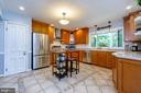 Updated U-shaped kitchen with stainless appliances - 5912 ONE PENNY DR, FAIRFAX STATION